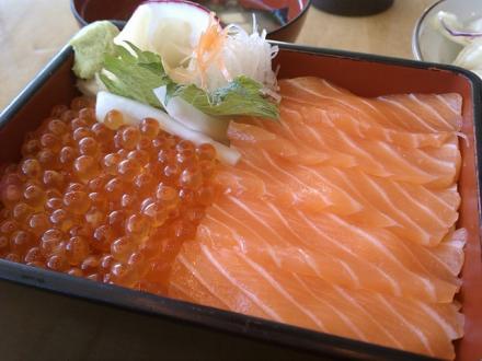 Salmon and Ikura