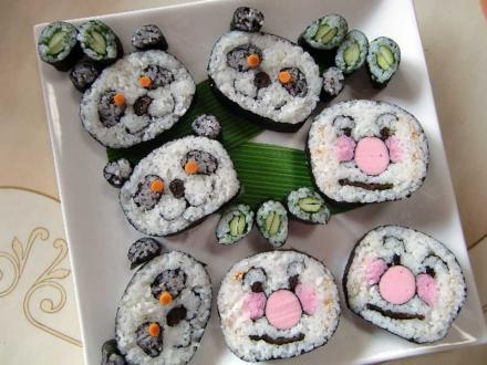 Суши - смешные мордашки | Суши - смешные мордашки | суши, роллы, сашими