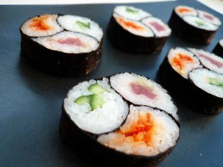 | Еще один тройной ролл инь-янь | суши, роллы, сашими
