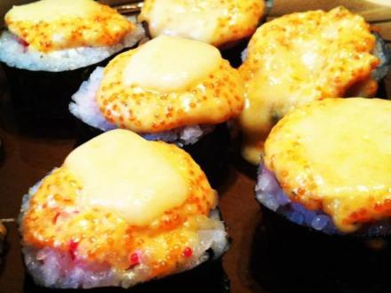 запеченные суши с золотистой корочкой из сыра )) | Фото- | суши, роллы, сашими