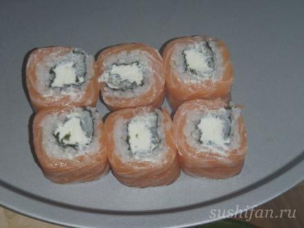 ролл филадельфия | суши, роллы, сашими