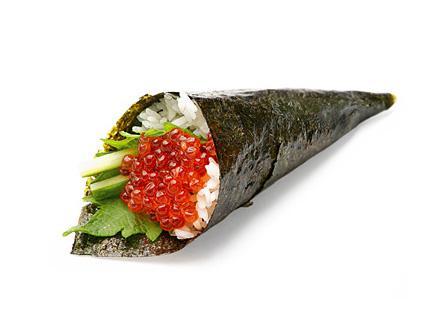 Икура темаки | суши, роллы, сашими