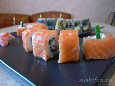 """Ролл """"Филадельфия"""" + угорь   суши, роллы, сашими"""