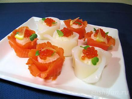 Сяке суши и ика суши | суши, роллы, сашими
