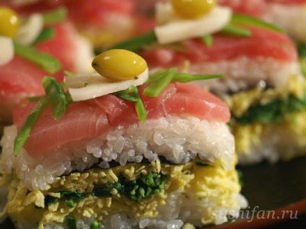 Осидзуси (прессованные суши) - результат | суши, роллы, сашими