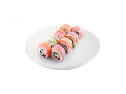 Киото маки: Лосось, авокадо, тунец, креветка, огурец, икра летучей рыбы | суши, роллы, сашими