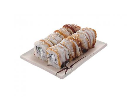 Унаги Филадельфия: Копченый угорь, сыр Филадельфия, огурец, кунжут | суши, роллы, сашими