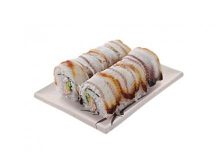 Тосидама маки: Крабовый салат, авокадо и копченый угорь | суши, роллы, сашими