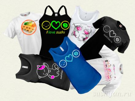 суши-футболки в подарок | суши, роллы, сашими
