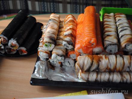 роллы для суши-пати | суши, роллы, сашими