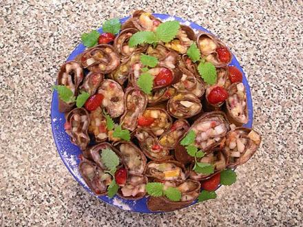 Шоколадно - ягодные роллы | суши, роллы, сашими