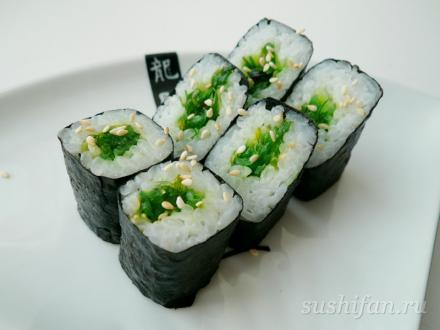 Ролл с водорослями | суши, роллы, сашими