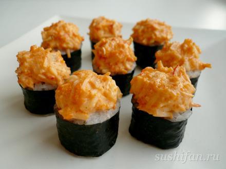 запеченные сяке маки | суши, роллы, сашими
