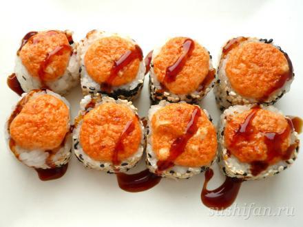 Запеченные унаги спайси маки | суши, роллы, сашими