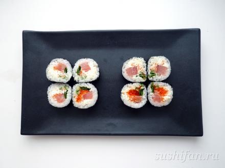 Футомаки с лучком | суши, роллы, сашими