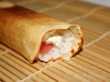Ролл на масленицу | суши, роллы, сашими