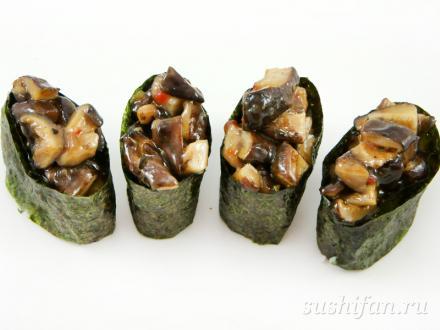 Гункан шиитаке | суши, роллы, сашими