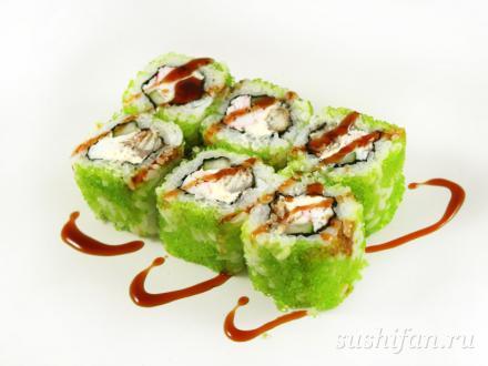 Ролл с угрем и крабом | суши, роллы, сашими