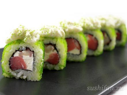 "Ролл ""Зеленая лава"" | суши, роллы, сашими"