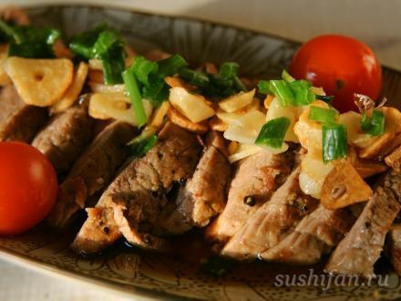 Татаки из говядины | суши, роллы, сашими