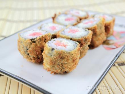 Темпурная мини филадельфия | суши, роллы, сашими