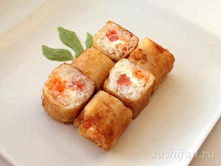 Харумаки с лососем | суши, роллы, сашими