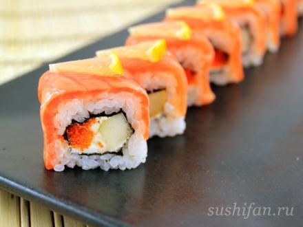 Урамаки с грушей | суши, роллы, сашими