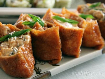 Инари суши (4 вида) | суши, роллы, сашими