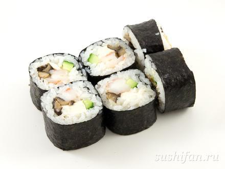 Футомаки с тофу, креветками и шиитаке | суши, роллы, сашими