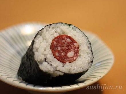 салями ролл | суши, роллы, сашими