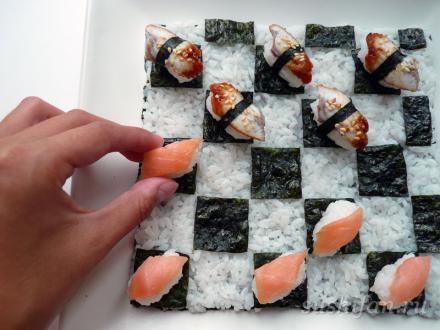 Суши-шашки | суши, роллы, сашими