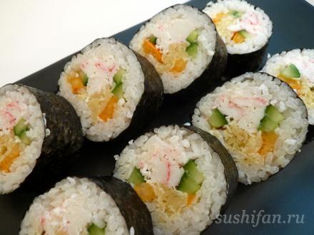 Салатный ролл | суши, роллы, сашими