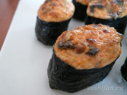 Горячие суши с угрем | суши, роллы, сашими