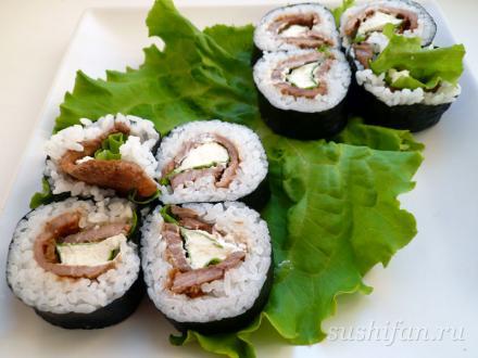 суши с мясом | суши, роллы, сашими