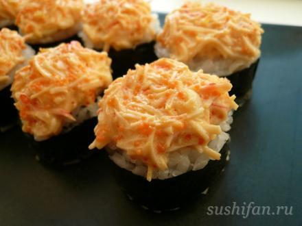 Запеченный ролл | суши, роллы, сашими