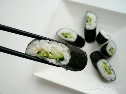 Роллы с огурцом | суши, роллы, сашими