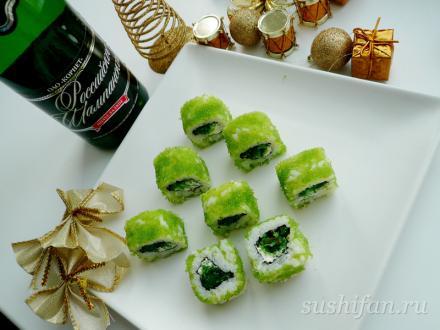 Зеленый ролл с чукой | суши, роллы, сашими