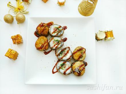 Горячие роллы с чуккой | суши, роллы, сашими