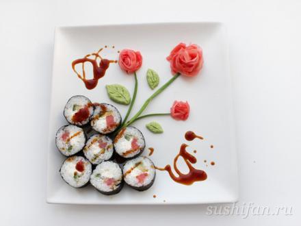 Праздничный ролл | суши, роллы, сашими