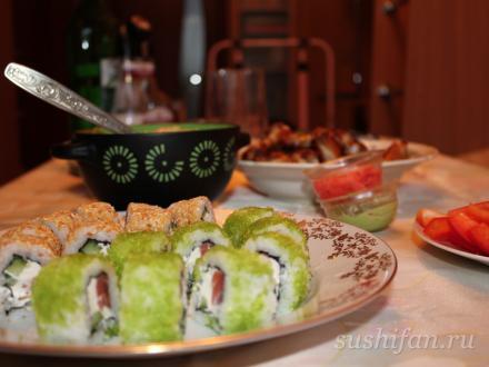 Простой ролл с семгой и сыром | суши, роллы, сашими