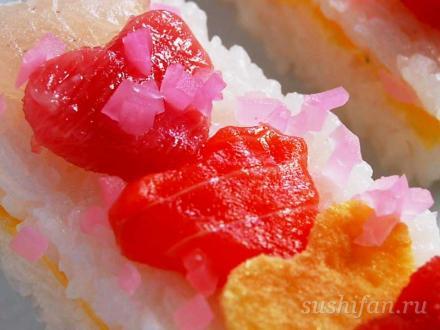 осидзуси в день святого Валентина | суши, роллы, сашими