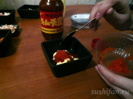 затем икру тобико   суши, роллы, сашими