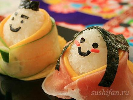 готовые онигири суши человечки | суши, роллы, сашими