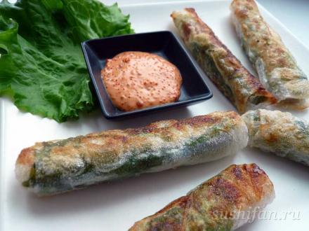 рецепт спринг роллв | суши, роллы, сашими