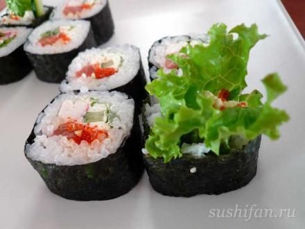 получилось очень вкусно   суши, роллы, сашими
