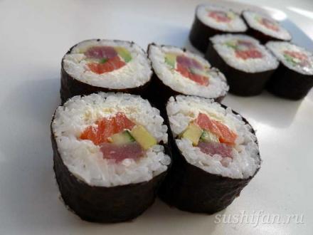 Футомаки. Эксперименты с начинками продолжаются   суши, роллы, сашими