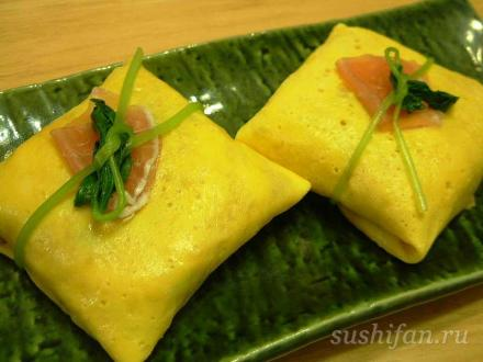 завязали суши в лук | суши, роллы, сашими