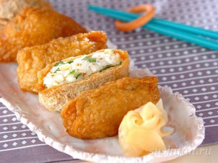 инари суши (в обжаренном тофу) | суши, роллы, сашими