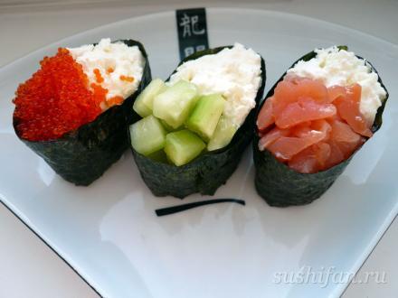 гунканы с сыром филадельфия | суши, роллы, сашими
