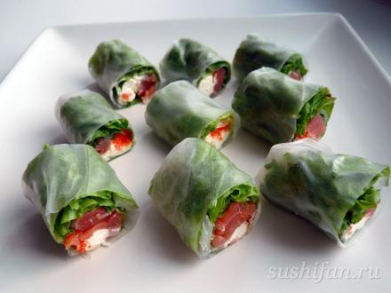 спринг роллы (не жаренные) | суши, роллы, сашими